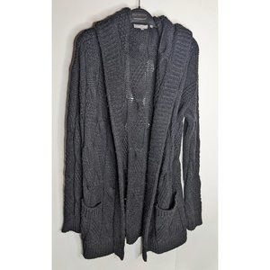 Vince | Hooded Cable-knit Wool Alpaca Cardigan